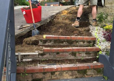 Recycled bricks steps - SR Brick and Stone Construction