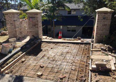 Recycled bricks pillars - SR Brick and Stone Construction