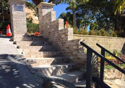 Step brickwork - Northern Beaches SR Brick and Stonework