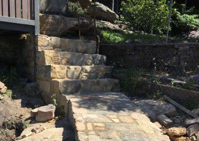 Sandstone steps - SR Brick and Stonework