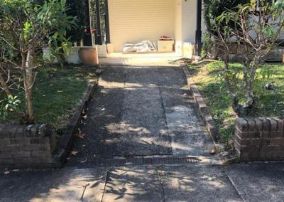 Old driveway to be replaced by SR Brick and Stonework